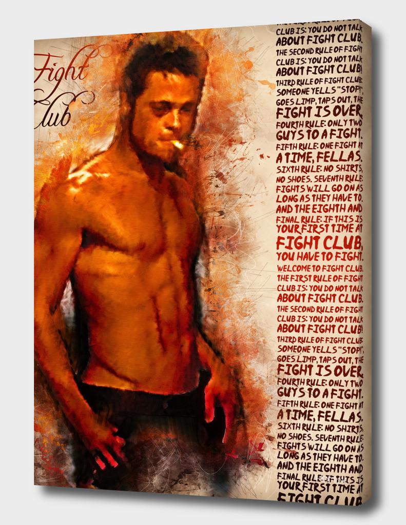 Fight Club - Rules - alternative art poster