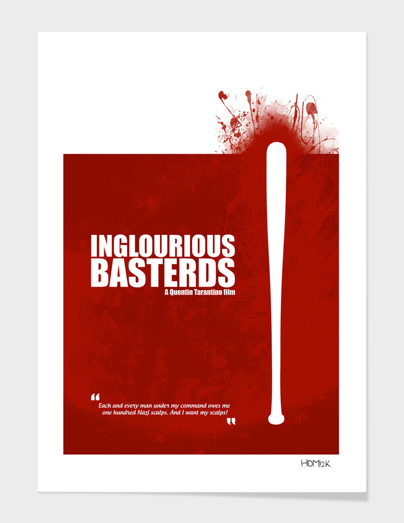 Inglourious Basterds. Minimal Movie Poster Alternative