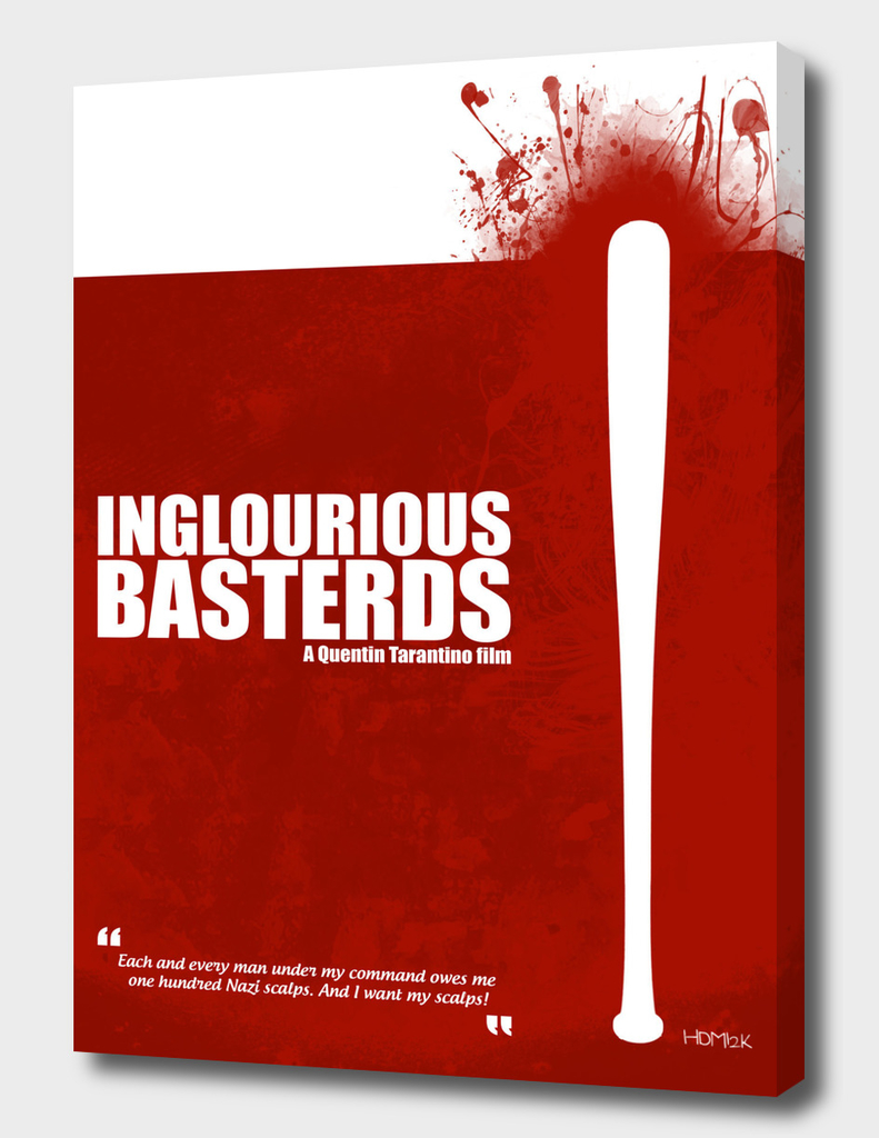 Inglourious Basterds. Minimal Movie Poster Alternative