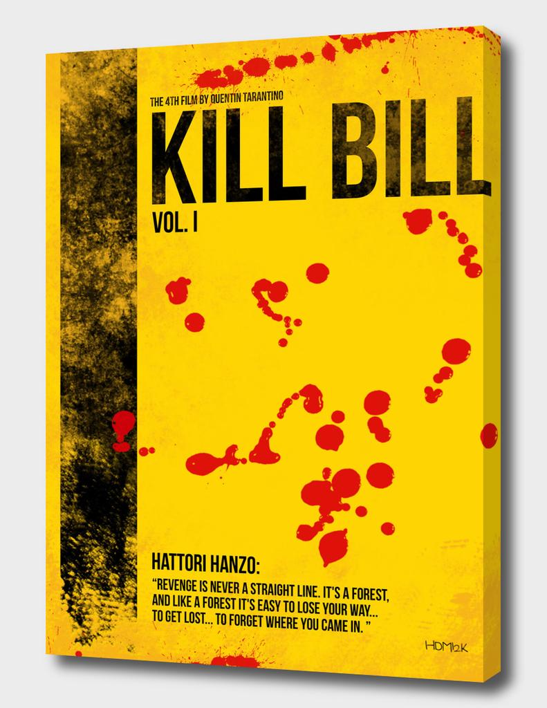Kill Bill - Vol. I minimal movie poster alternative