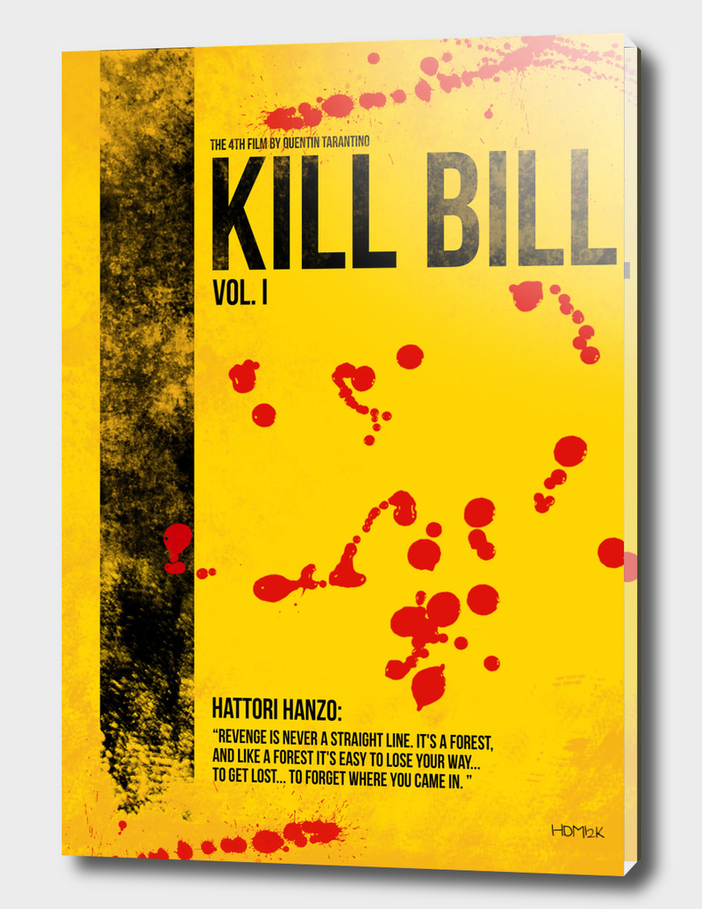Kill Bill - Vol. I minimal movie poster alternative