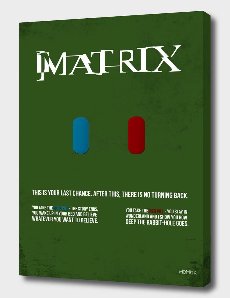Matrix - minimal movie poster
