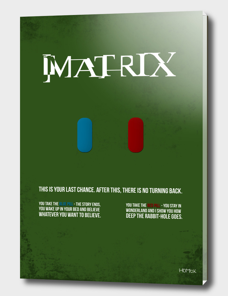Matrix - minimal movie poster