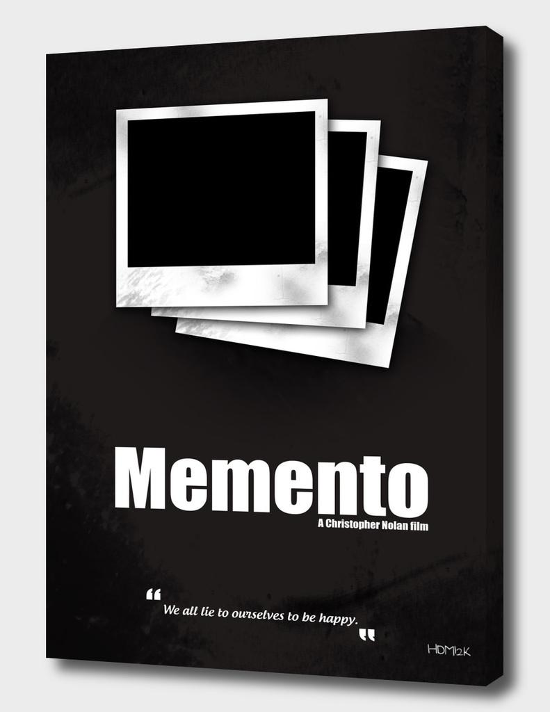 Memento. Minimal Movie Poster - A Christopher Nolan Film.