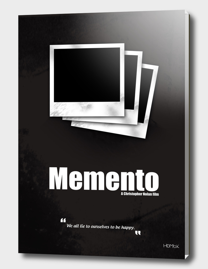 Memento. Minimal Movie Poster - A Christopher Nolan Film.