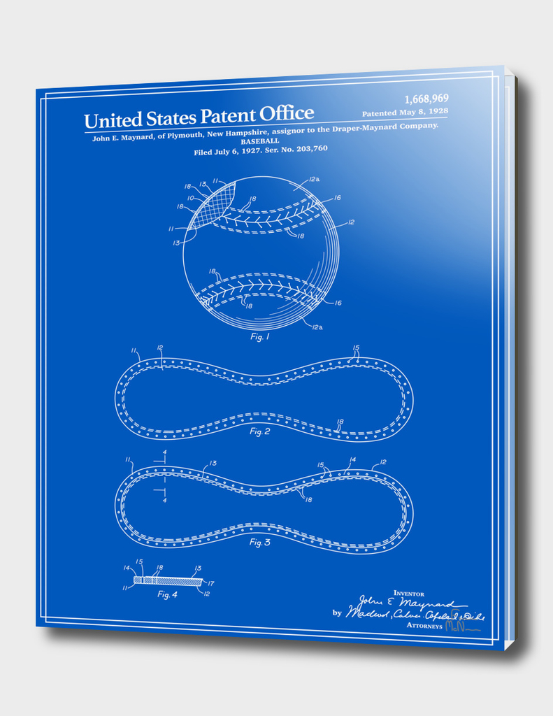 Baseball Patent - Blueprint