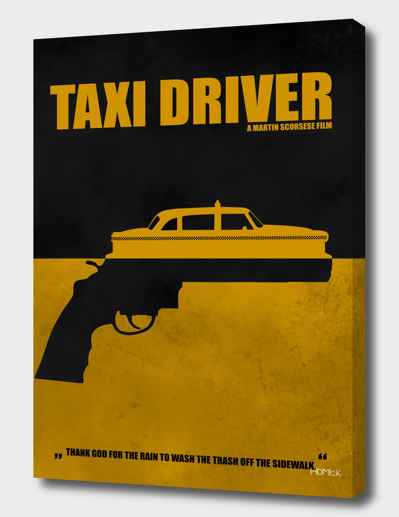 Taxi Driver - Minimal Alternative Movie Poster
