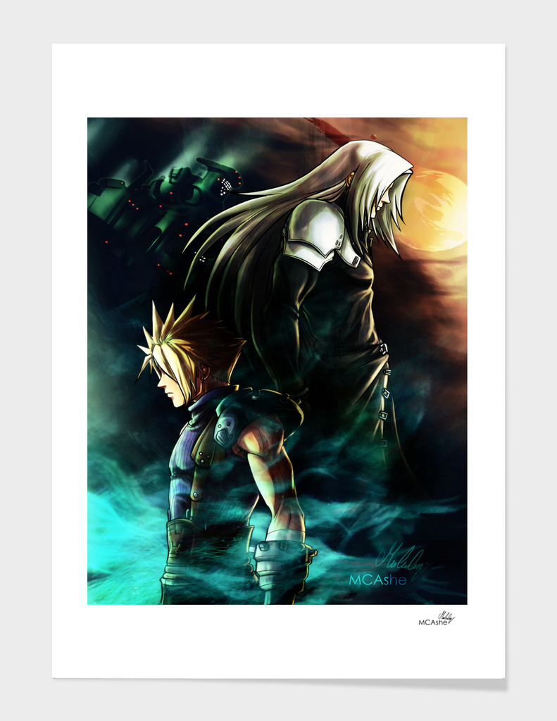 FFVII Sephiroth Cloud - Artwork