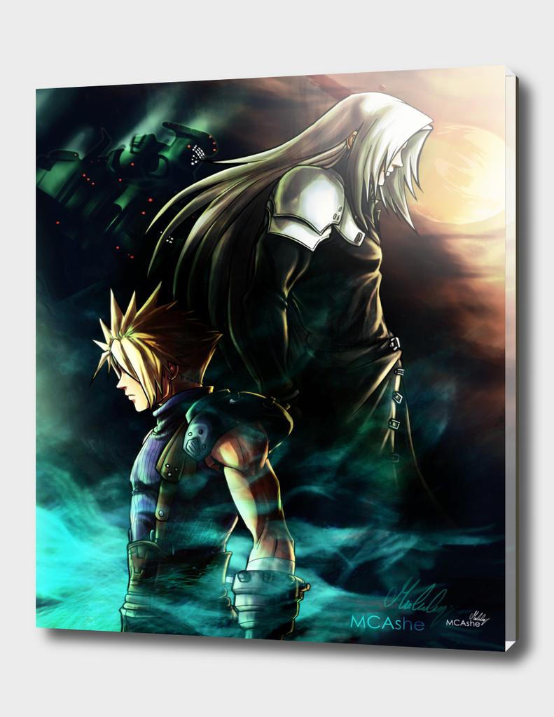 FFVII Sephiroth Cloud - Artwork