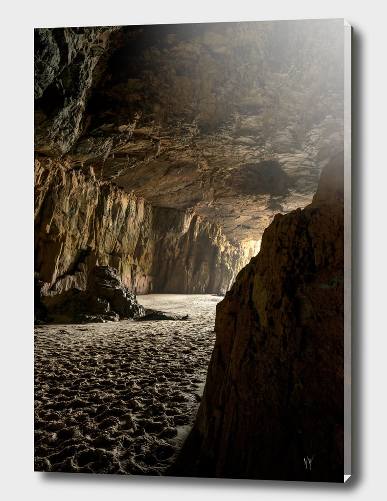 Sea cave at low tide