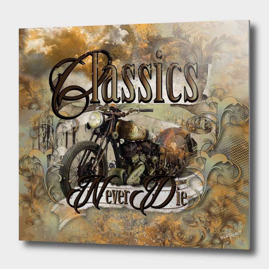 Classics Never Die Vintage Motorbike