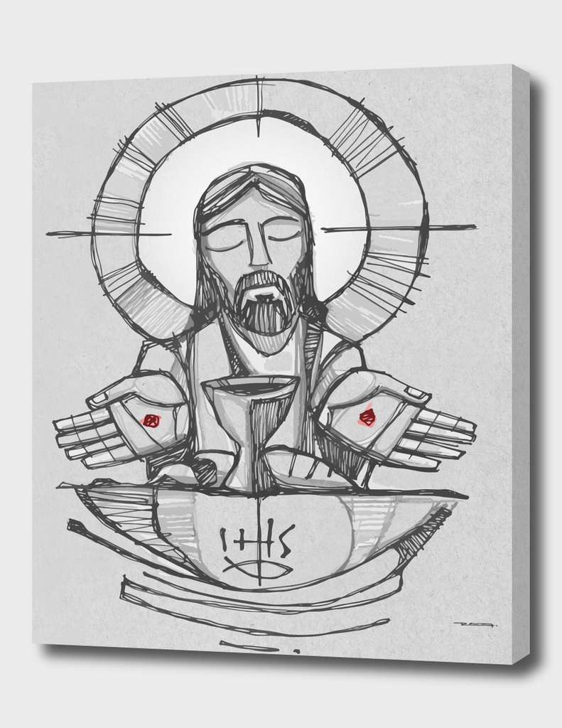 Jesus Christ Eucharist illustration