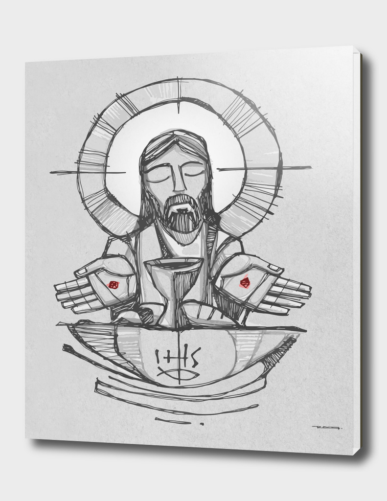 Jesus Christ Eucharist illustration