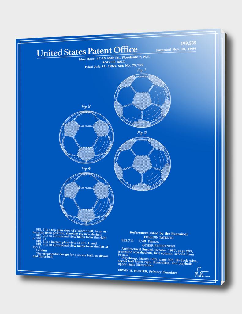 Soccer Ball Patent - Blueprint