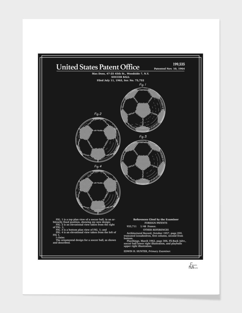 Soccer Ball Patent - Black