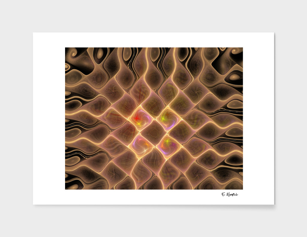 The Square Dimension Abstract Art print