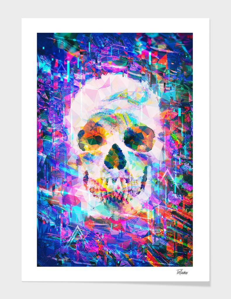 Artistic LXXVI - Dope poly glitch skull / NE