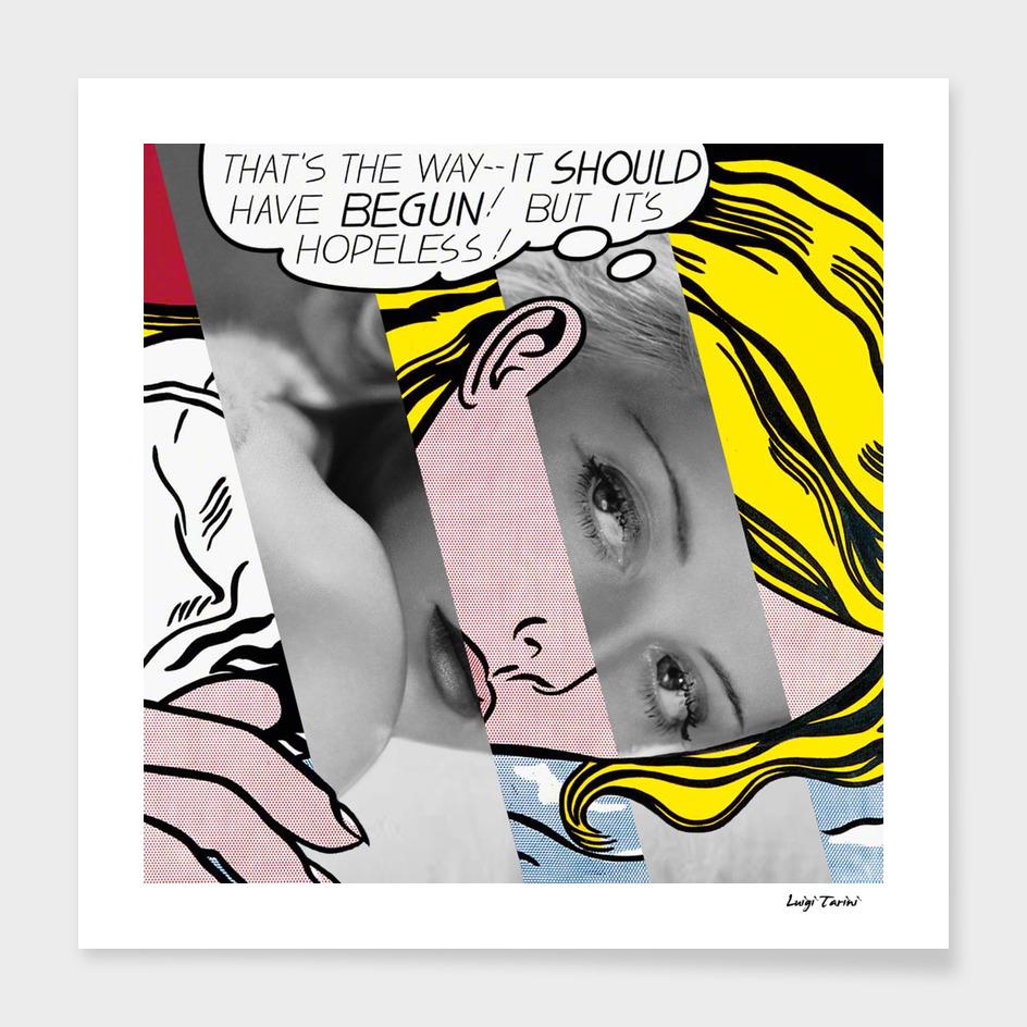 Roy Lichtenstein's Hopeless & Bette Davis