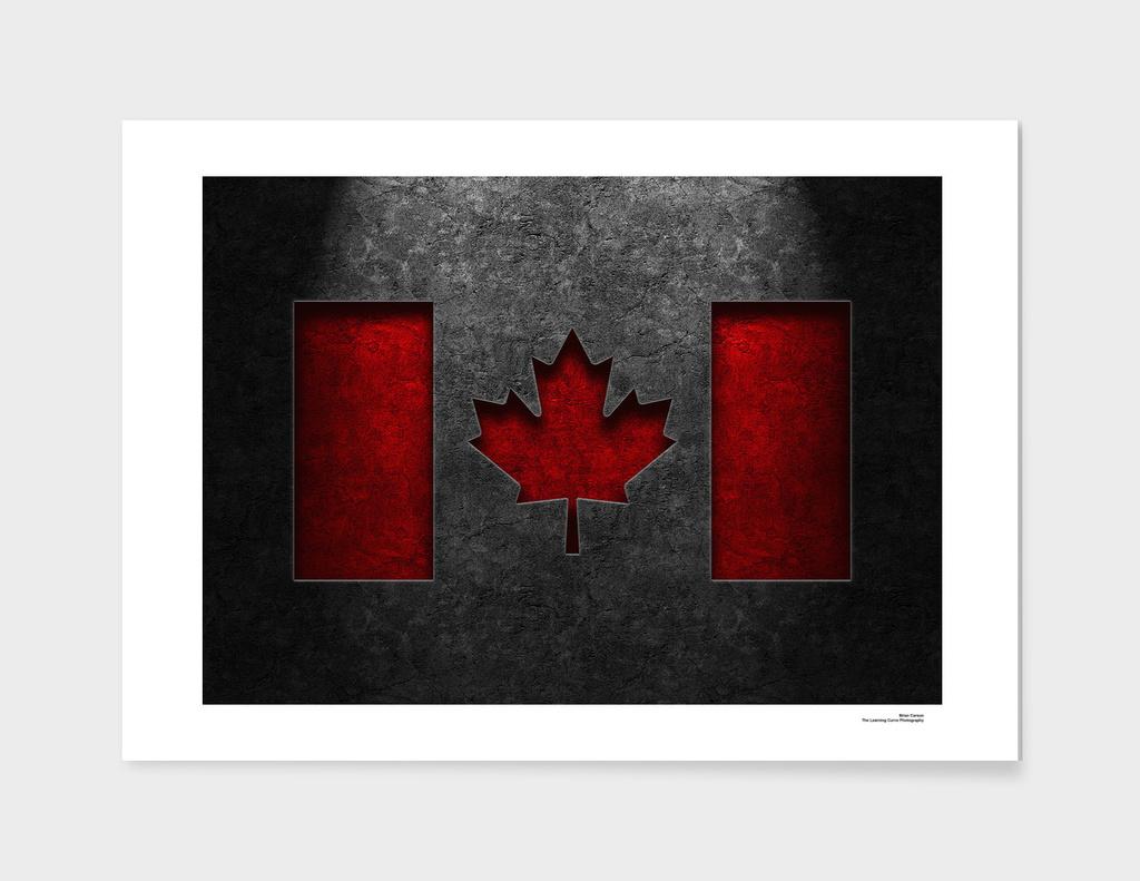 Canadian Flag Stone Texture Art Print By Brian Carson Curioos