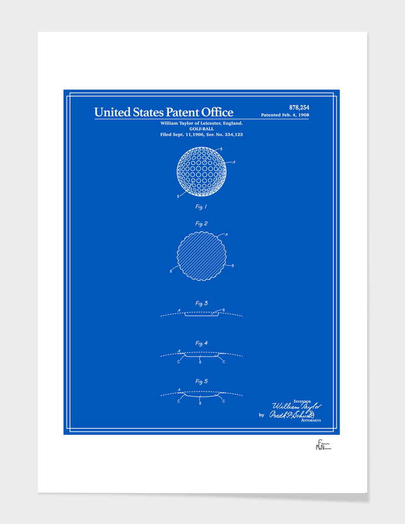 Golf Ball Patent - Blueprint