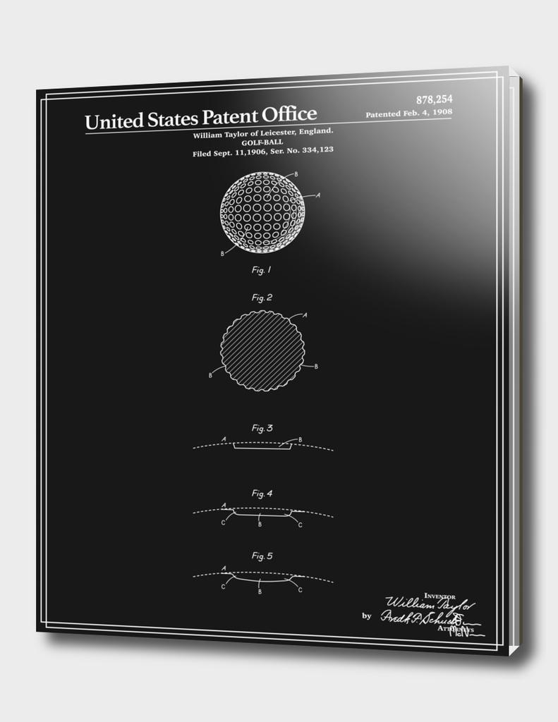 Golf Ball Patent - Black