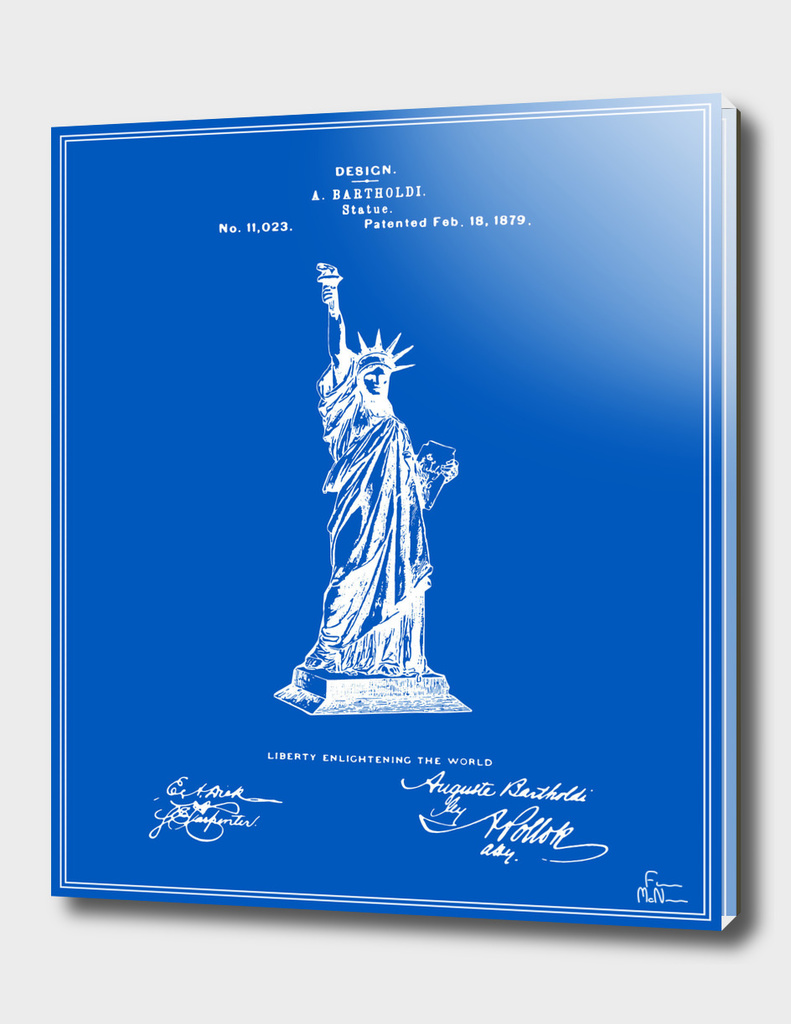 Statue of Liberty Patent - Blueprint