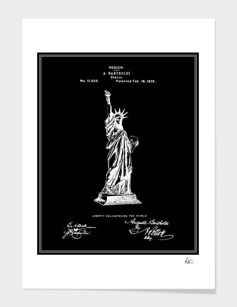 Statue of Liberty Patent - Black