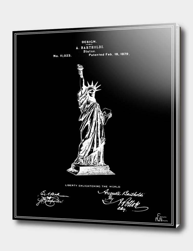 Statue of Liberty Patent - Black