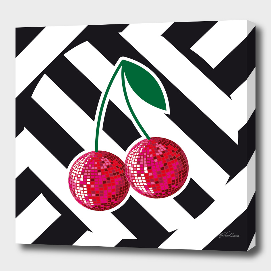 disco cherry and stripes