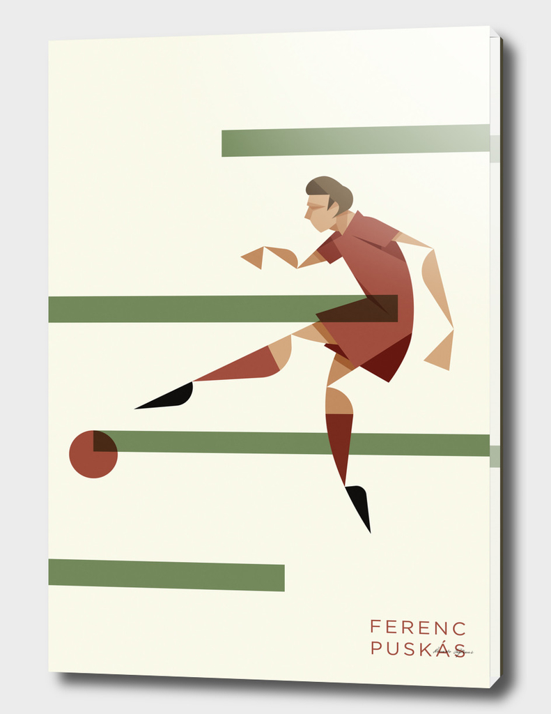 Ferenc Puskas, the portrait