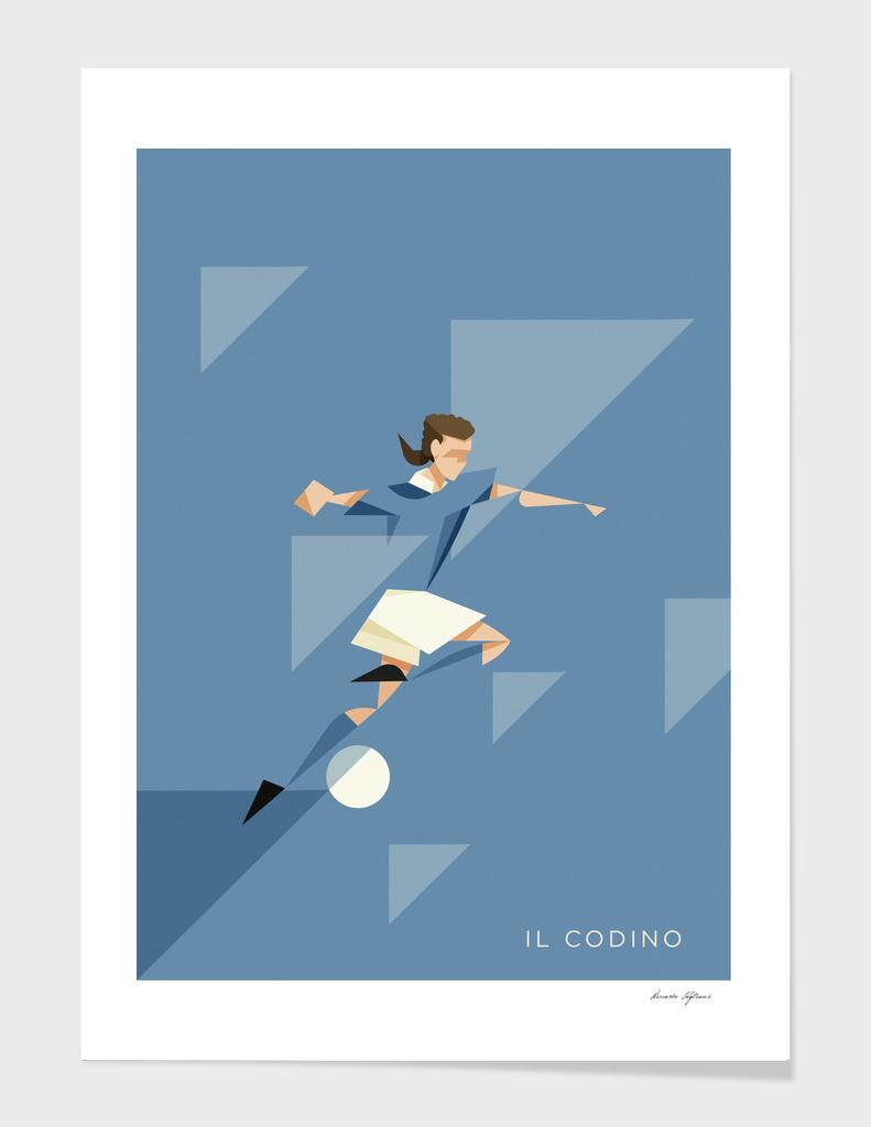 Il Codino, the italian football Hero