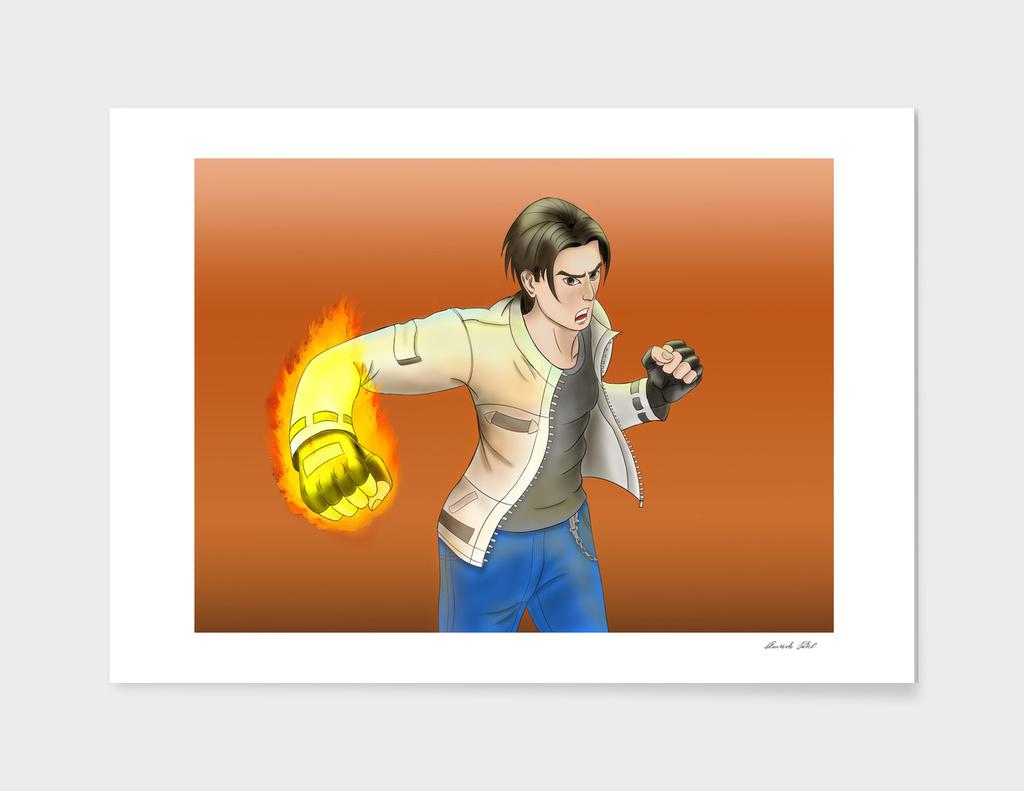 Kyo Kusanagi's burn to fight!