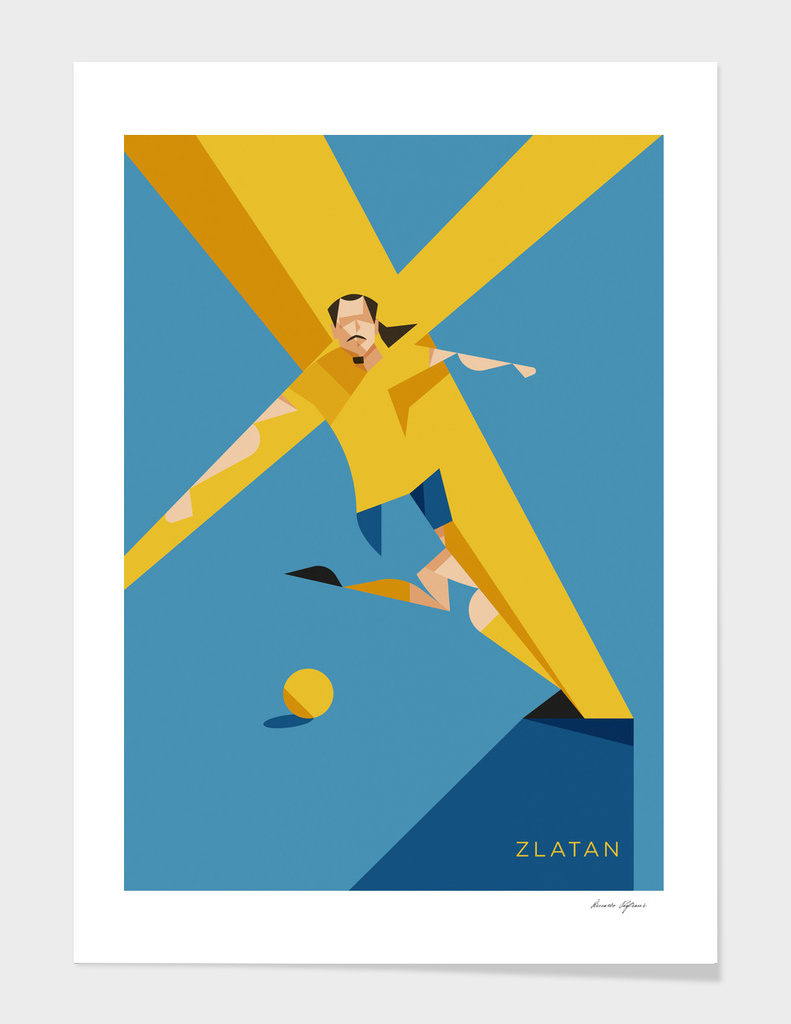 Zlatan, iconic portrait