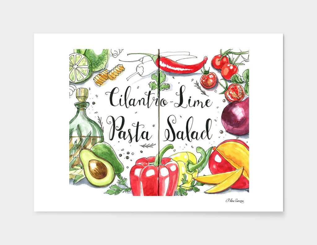 Cilantro-Lime Pasta Salad ingredients