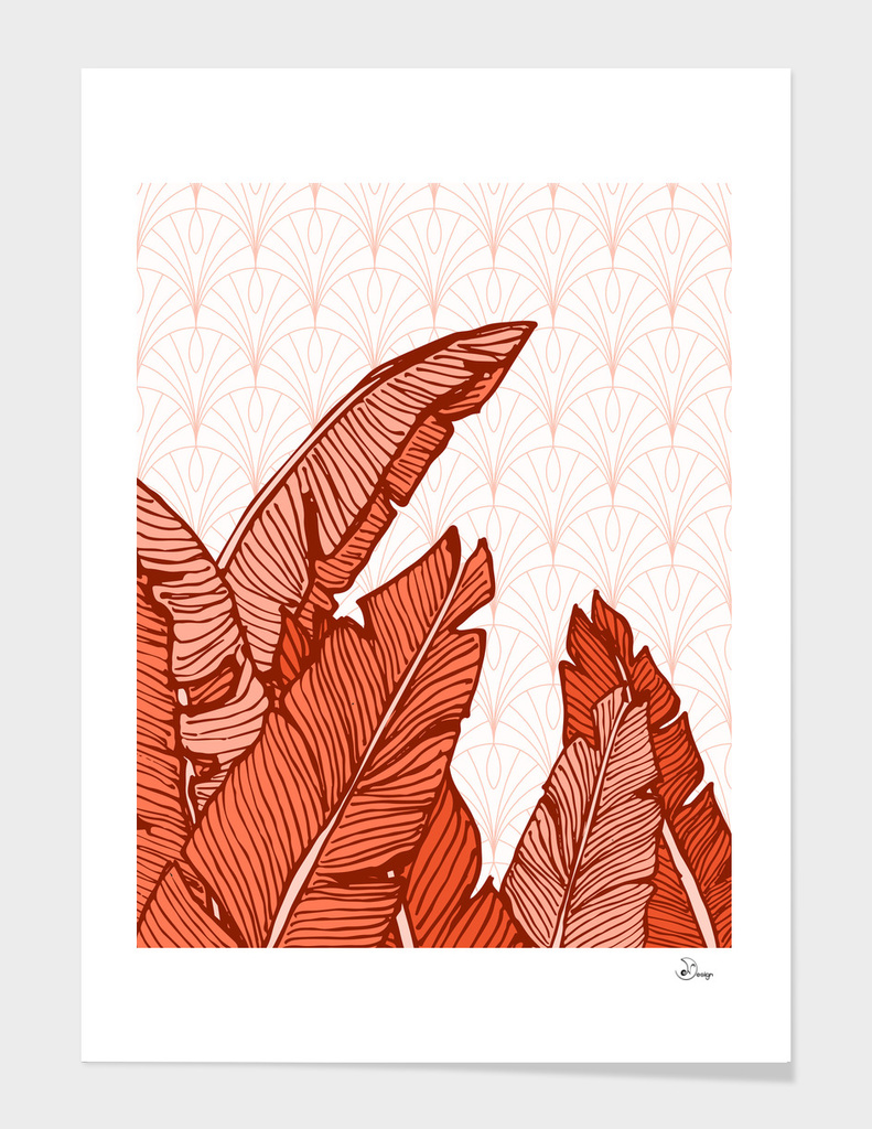 Red Tropical Leaves