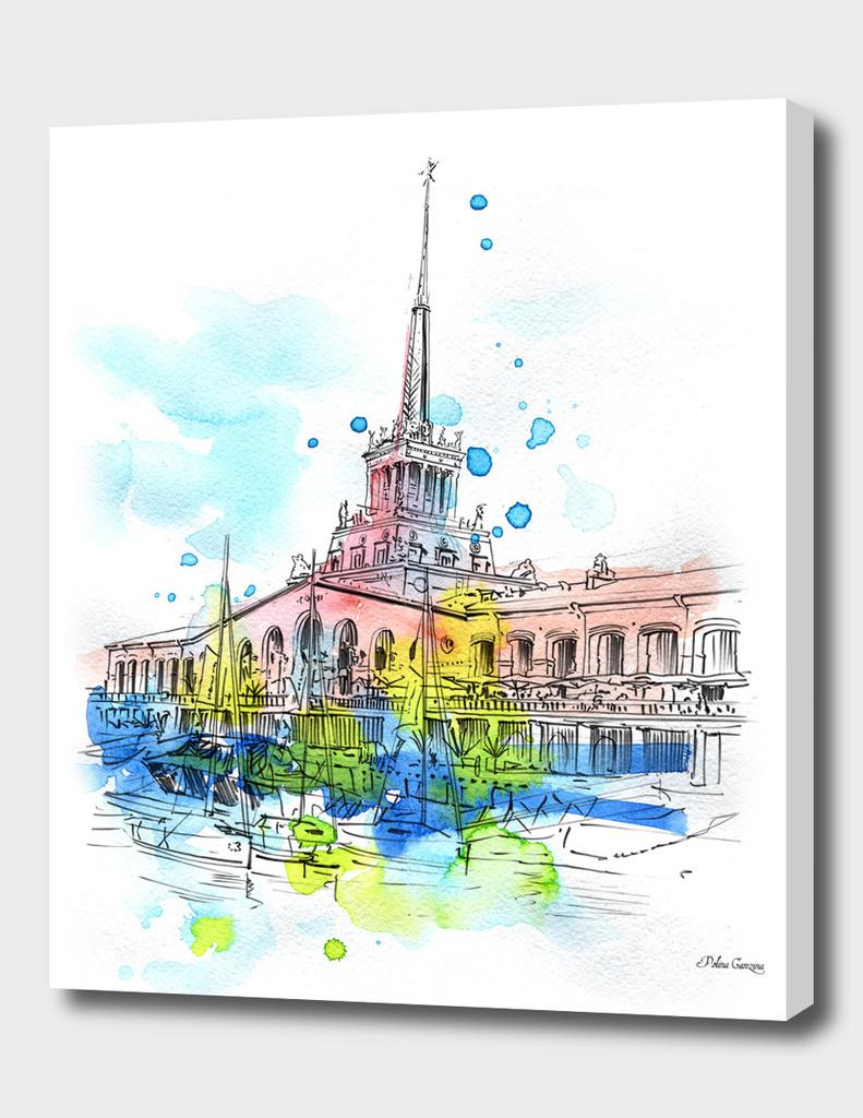 Sea port Sochi