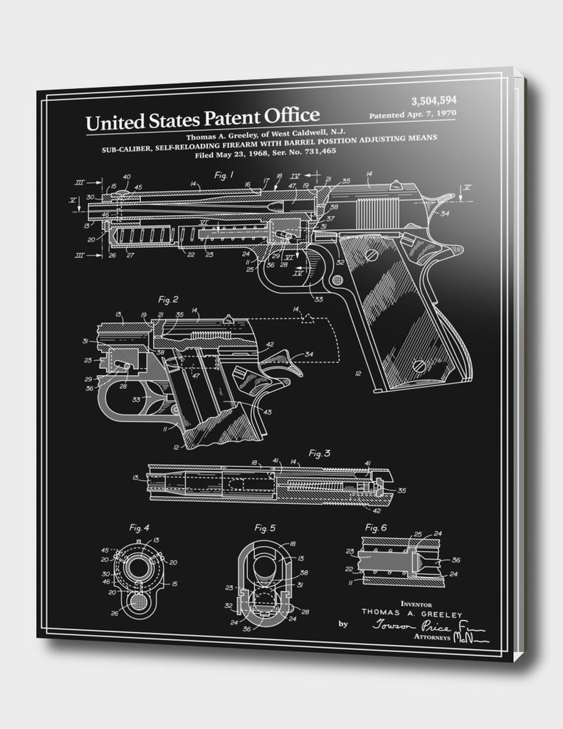 Colt 1911 Handgun Patent - Black