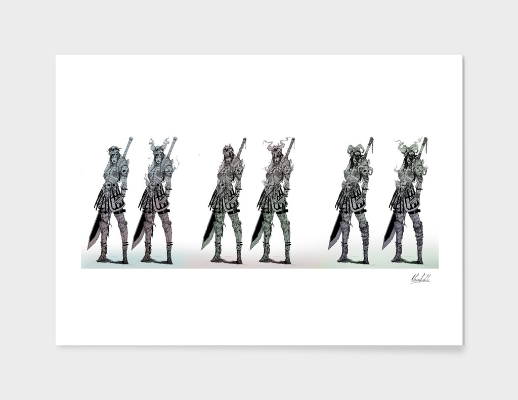 Skeleton Female Knight