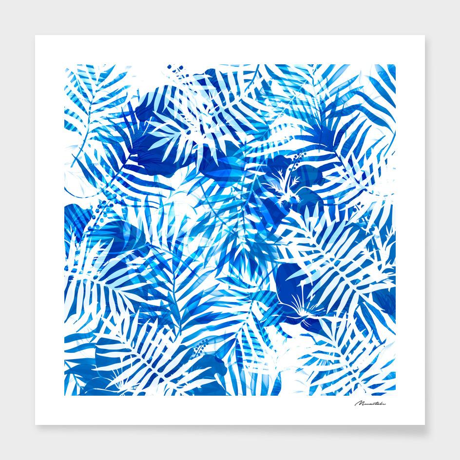 Jungle tropical blue