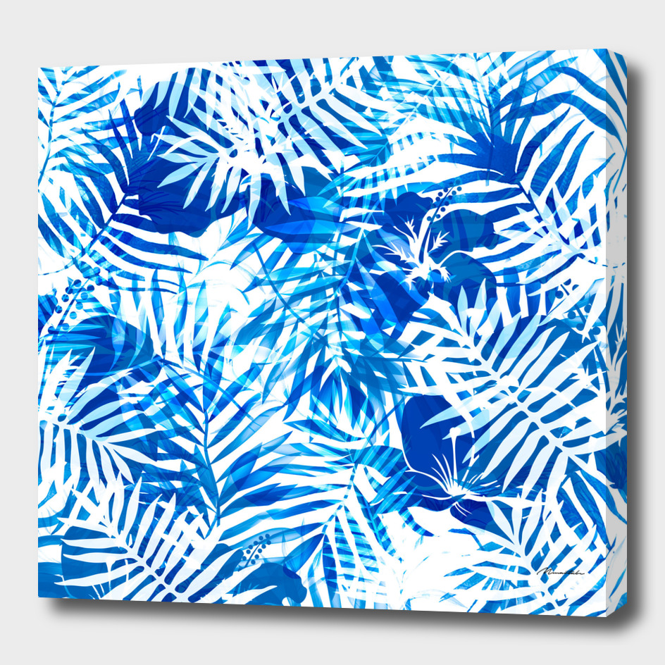 Jungle tropical blue