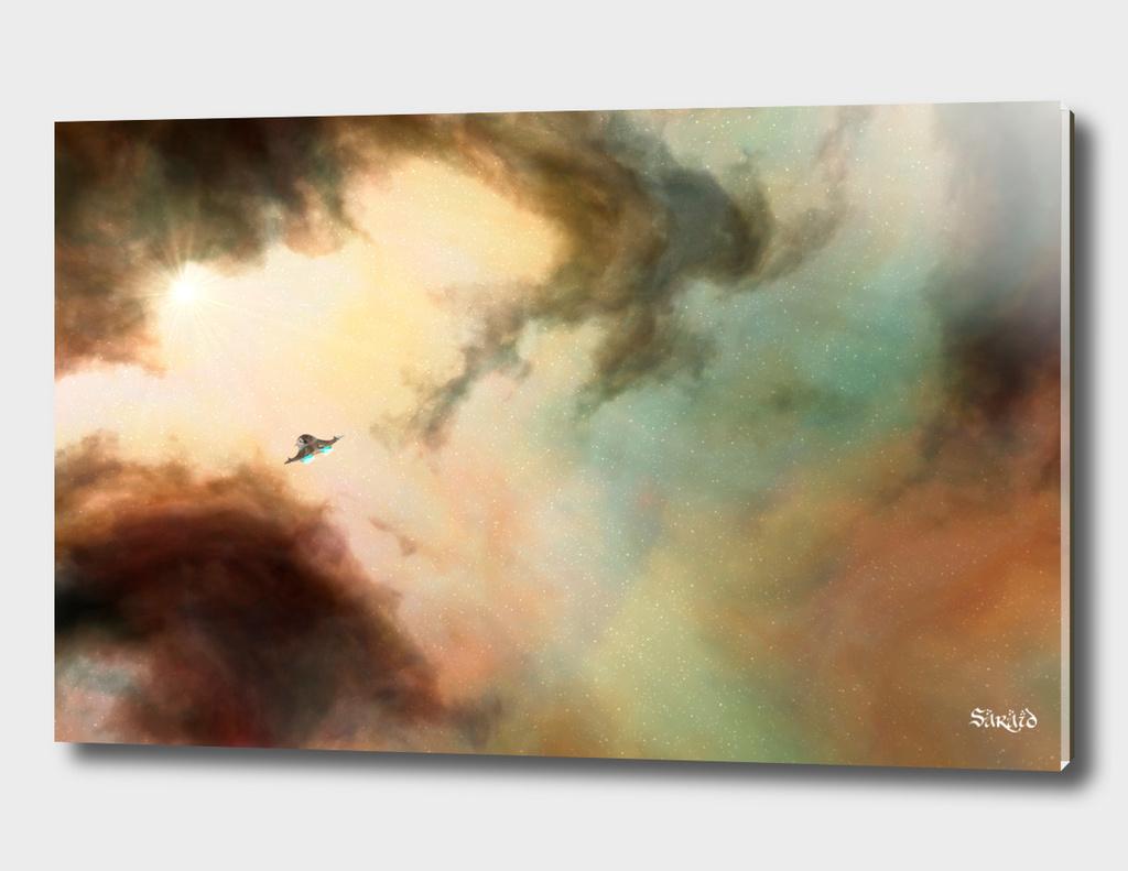 Nebula and Space Ship