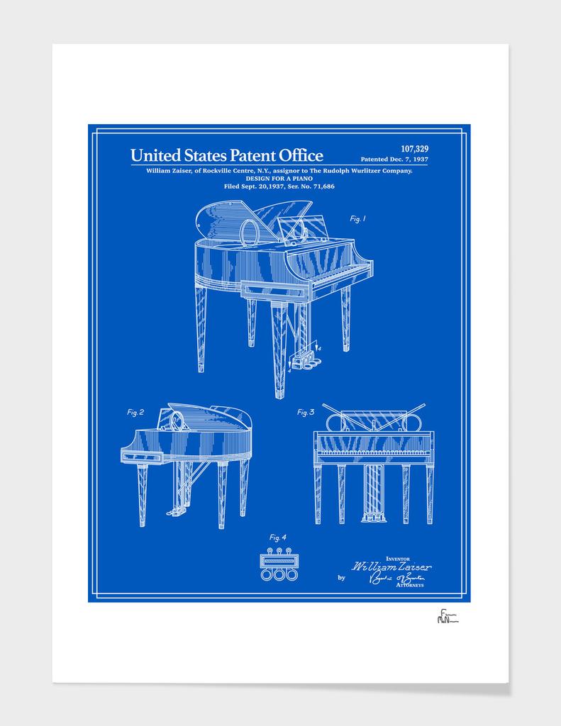 Piano Patent - Blueprint
