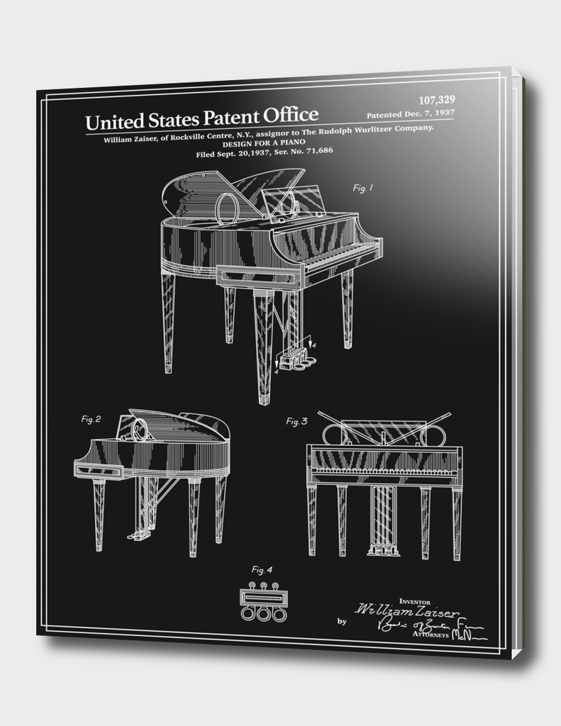 Piano Patent - Black