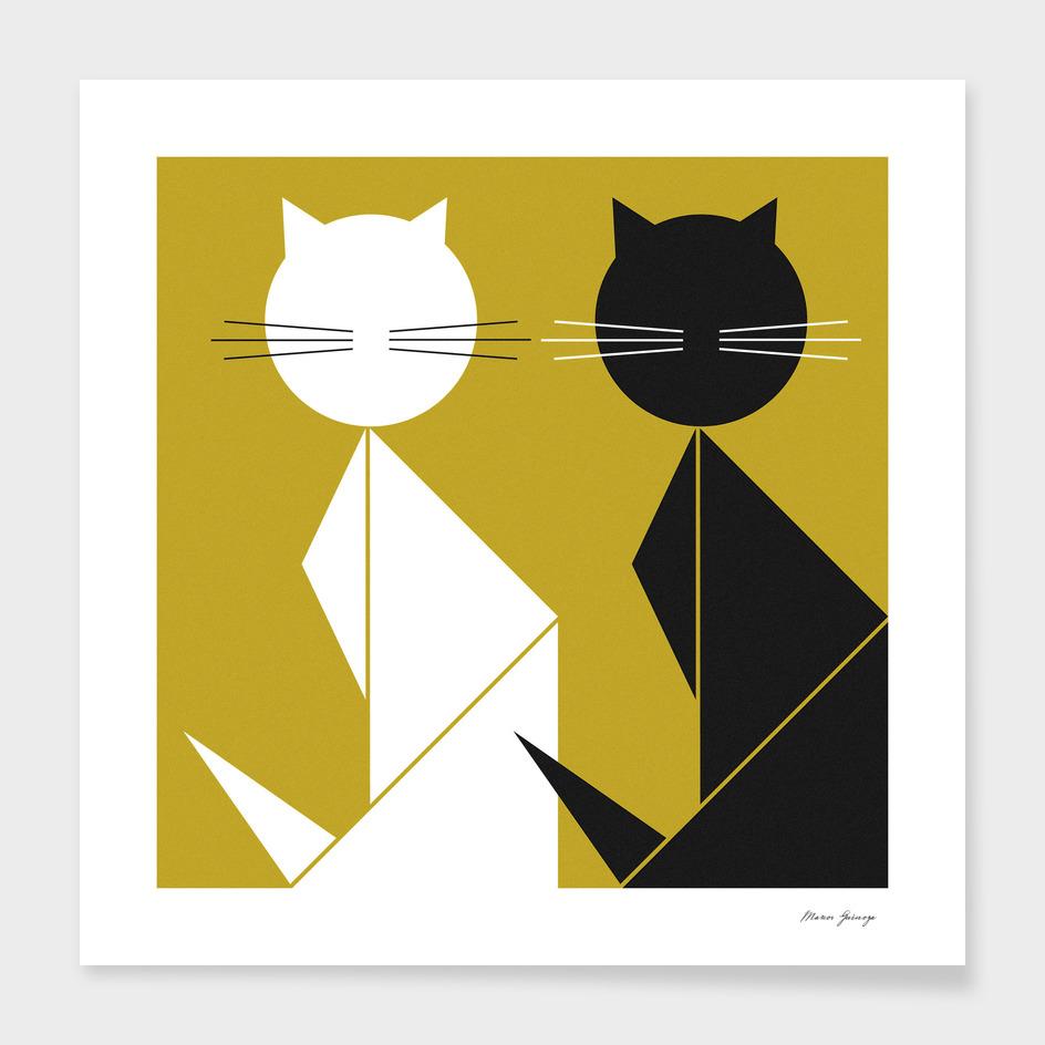 cat (black and white)