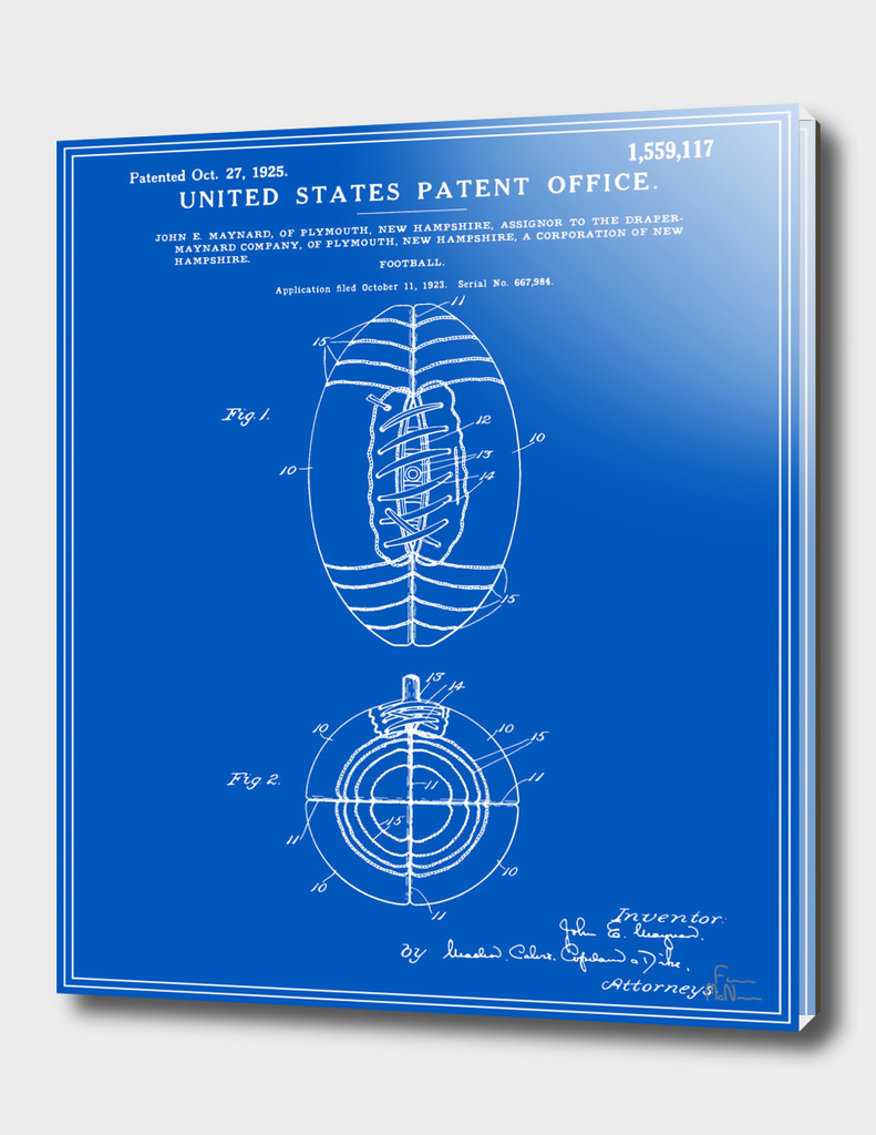 Football Patent - Blueprint