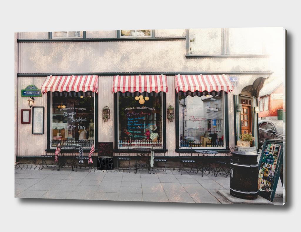 Vintage French Sidewalk Cafe
