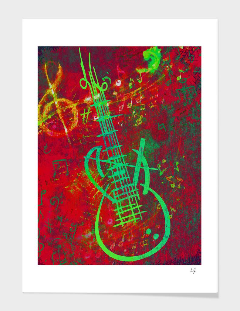 Guitar Red Sound
