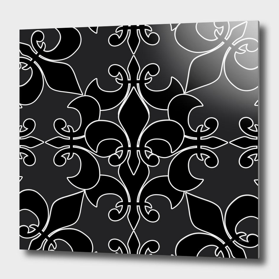 Fleur delis pattern