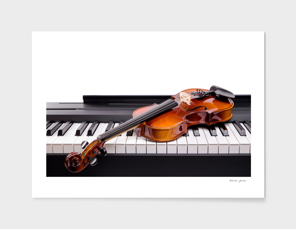Violin on the keys
