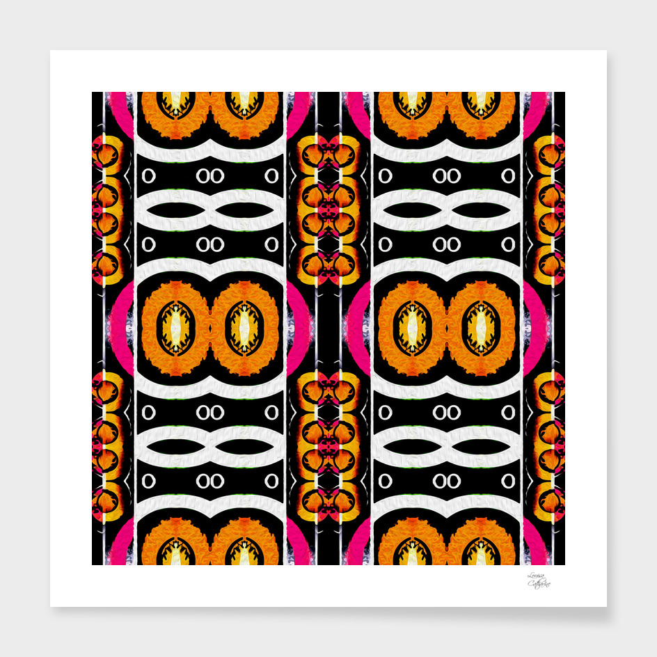 Surf Girl Citrus Pink Abstract
